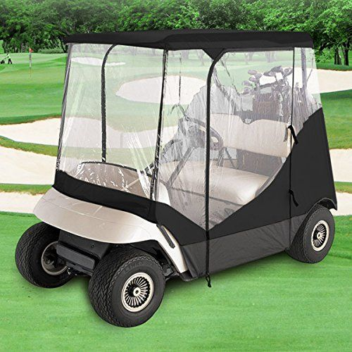 Golf Balls Ideas   WATERPROOF SUPERIOR BLACK AND TRANSPARENT GOLF CART COVER COVERS ENCLOSURE CLUB CAR EZGO YAMAHA FITS MOST TWOPERSON GOLF CARTS >>> Check this awesome product by going to the link at the image. Note:It is Affiliate Link to Amazon.