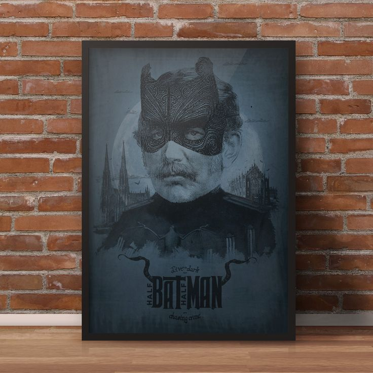 Vintage batman, alternative poster, bat, man, hero, superhero, print. More at https://www.etsy.com/shop/MaciejLaskowski?ref=l2-shopheader-name