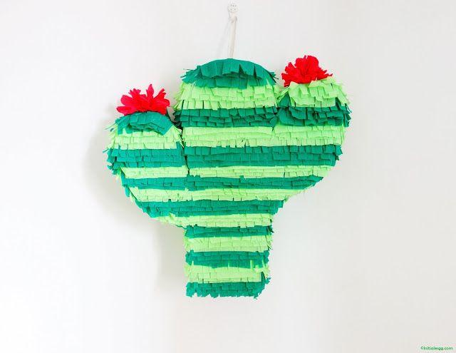 #DIY, ma piñata cactus facile à réaliser! #tutoriel #anniversaire #birthday #kidsparty