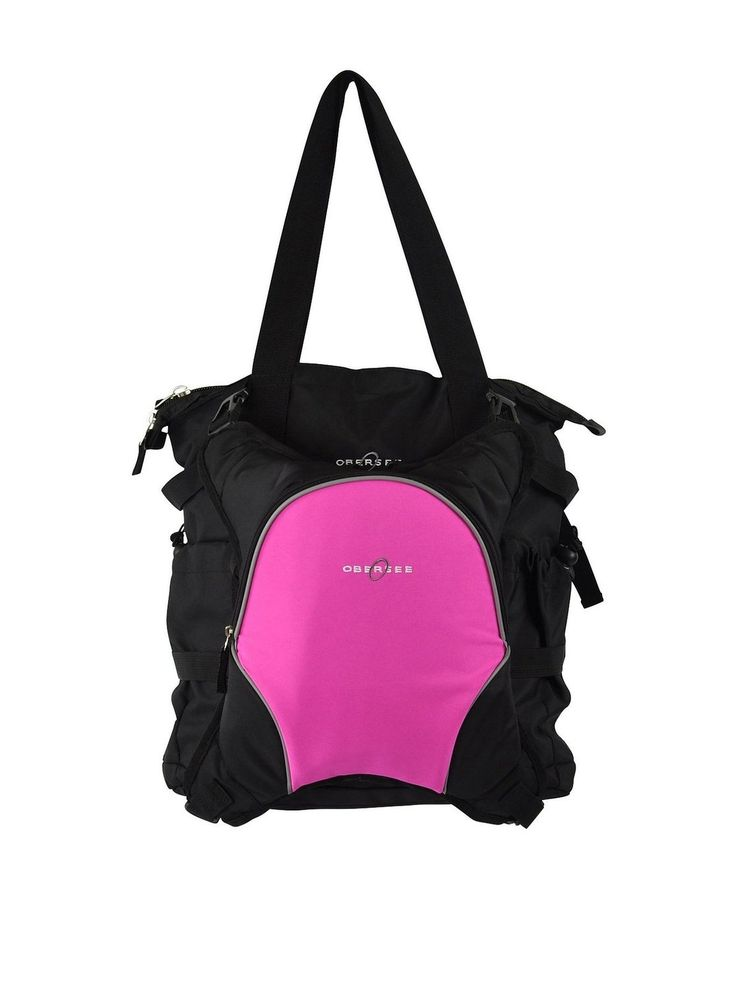Amazon.co.jp: オベルシー [Obersee] インスブルック トート マザーズバッグ ピンク Innsbruck Diaper Bag Tote with Cooler Black/Pink 【並行輸入品】: シューズ&バッグ