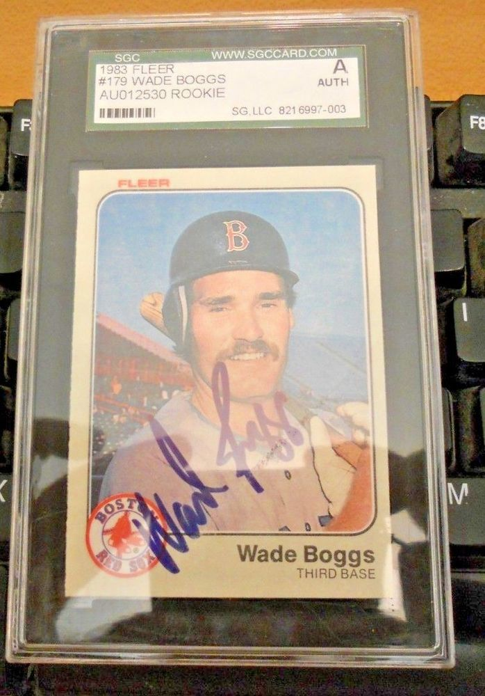 Wade Boggs Autographed Signed Rookie Card Psa Slabbed