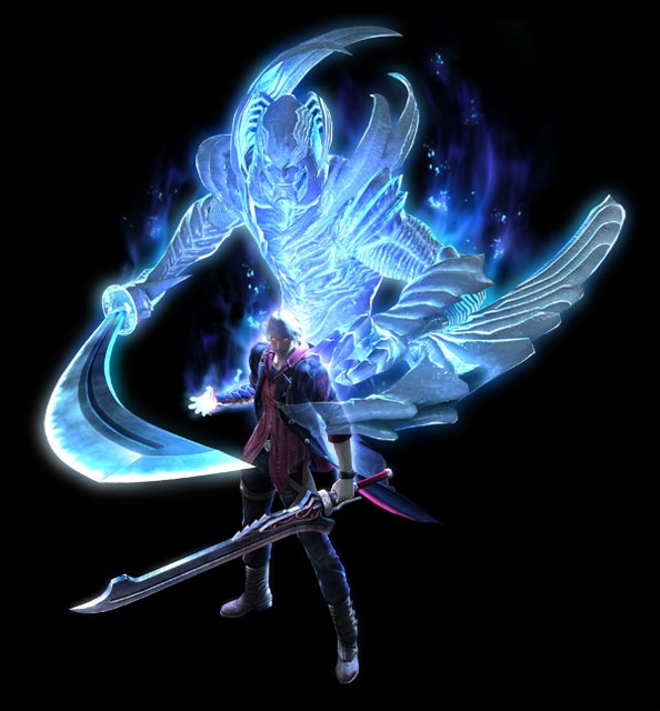 Nero channelling the power of Nelo Angelo through Yamato - Devil May Cry 4