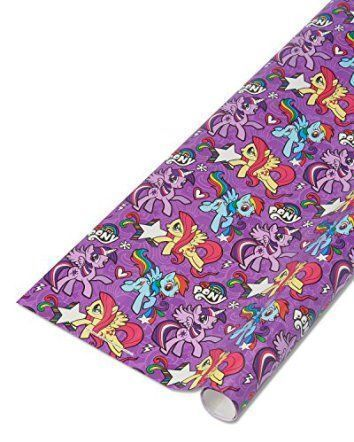 American Greetings Purple My Little Pony Wrapping Paper, 22.5 sq. ft. (068981008002)    The best Christmas wrapping paper for 2017 is trendy, cute and fun.  You will see allot of colorful Christmas wrapping paper this holiday season.  This is especially true with pink Christmas wrapping paper, purple Christmas wrapping paper and especially black gift wrapping paper.  Additionally, you will notice cat Christmas wrapping paper is also trendy and popular.
