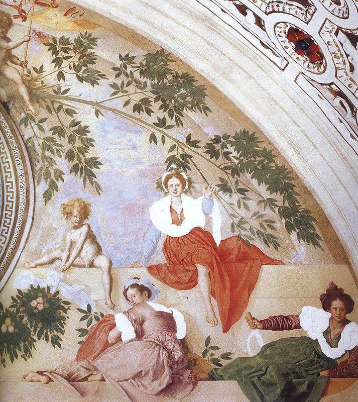 Вертумн и Помона, правая часть (Понтормо).  Вилла Амбра в Поджо-а-Кайано, Италия.