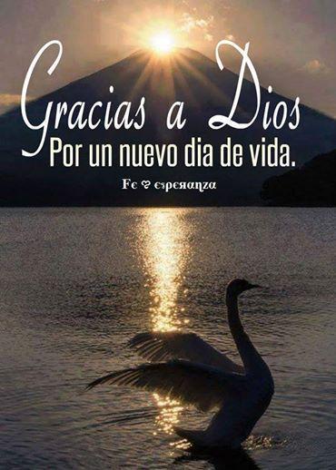 Gracias a Dios por este nuevo dia de vida!