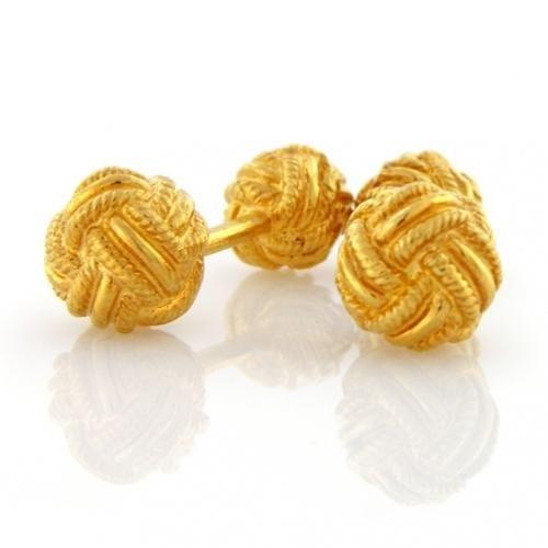 Classic Gold Vermeil Double Woven Love Knot Cufflinks