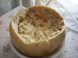 Casu Marzu, a very hot and live cheese.