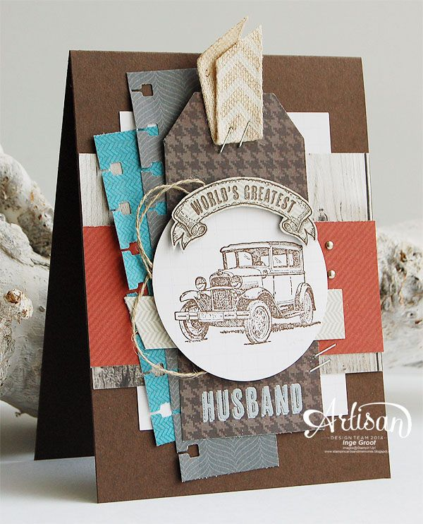 Guy Greetings, Adventure Bound, Angled Tag Topper Punch, Spiral Border Punch