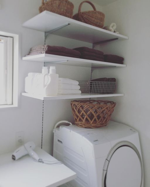 洗濯機まわりの収納を工夫して、すっきりキレイに!使いやすく! | iemo[イエモ]