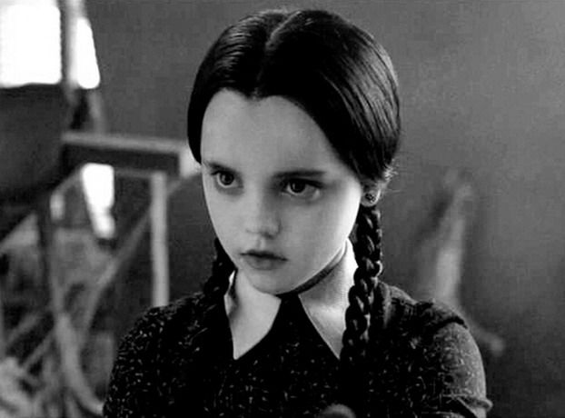 Wednesday Addams - flying the flag for smart, pale girls (with a love of the macabre) everywhere.