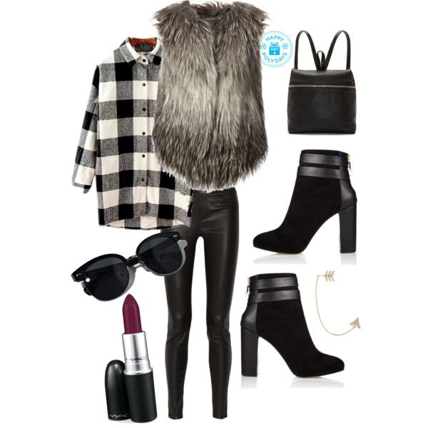 A fashion look from December 2014 featuring Diesel vests, Helmut Lang leggings and Coye Nokes ankle booties. Browse and shop related looks.