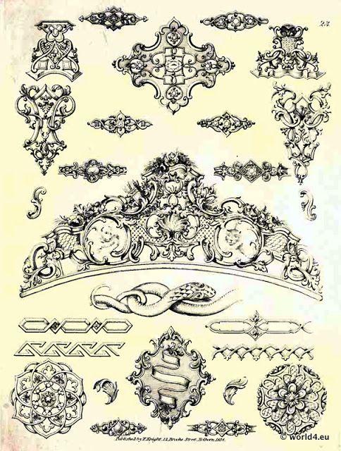 rokoko barock ornamente printables stencils und layouts pinterest cnc text photo and. Black Bedroom Furniture Sets. Home Design Ideas