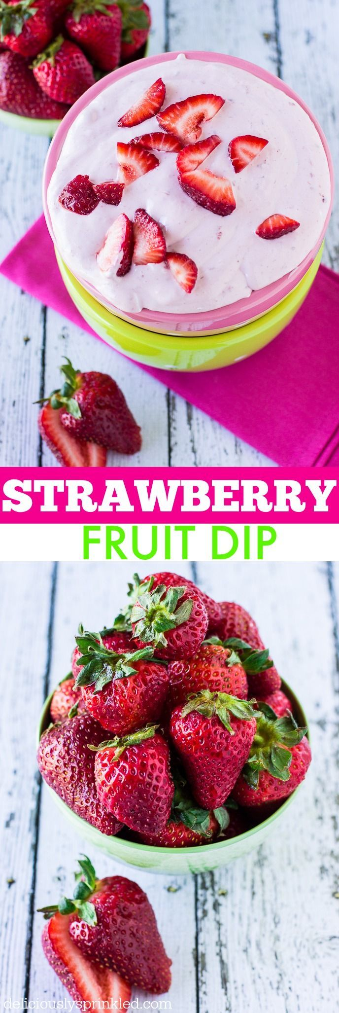 The BEST Strawberry Fruit Dip