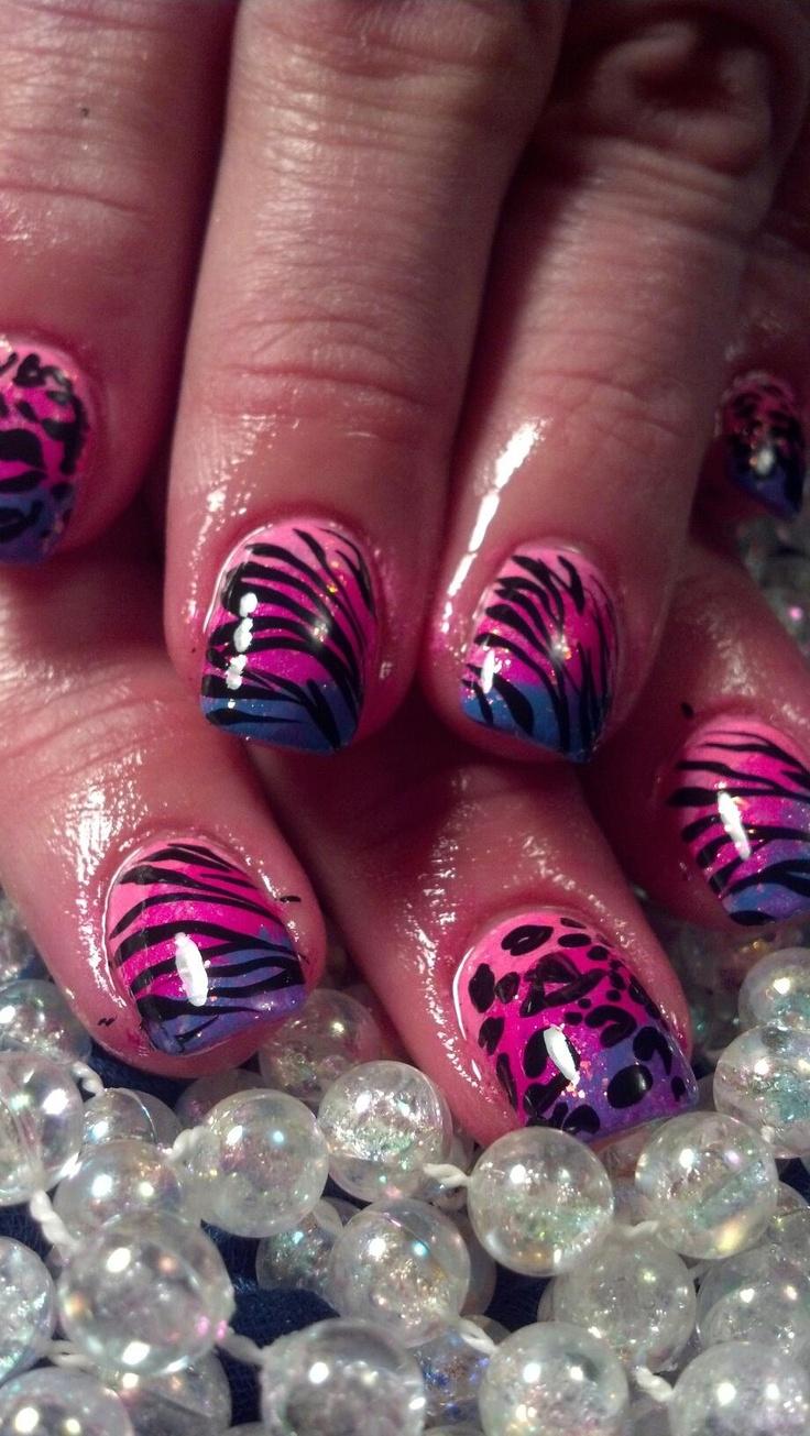 Hot, bright, fun nails for spring!