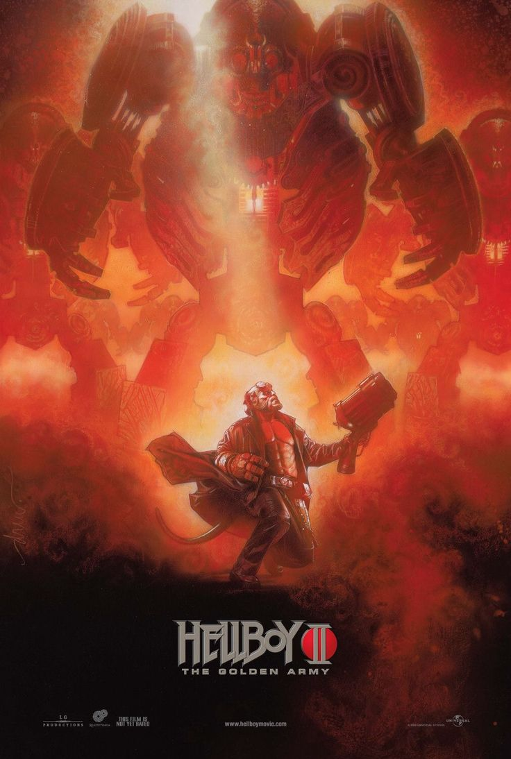 """Hellboy 2"" movie poster by Drew Struzan | Inspiration ..."