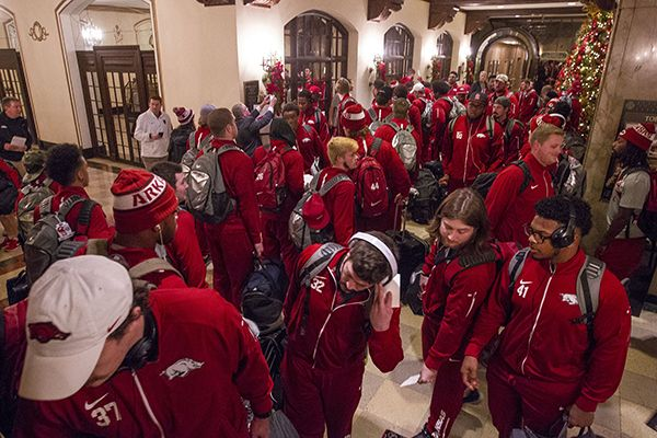 arkansas football liberty bowl | WholeHogSports - Hogs arrive for Liberty Bowl