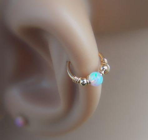 Orecchino cartilagine opale orecchino trago di sofisjewelryshop