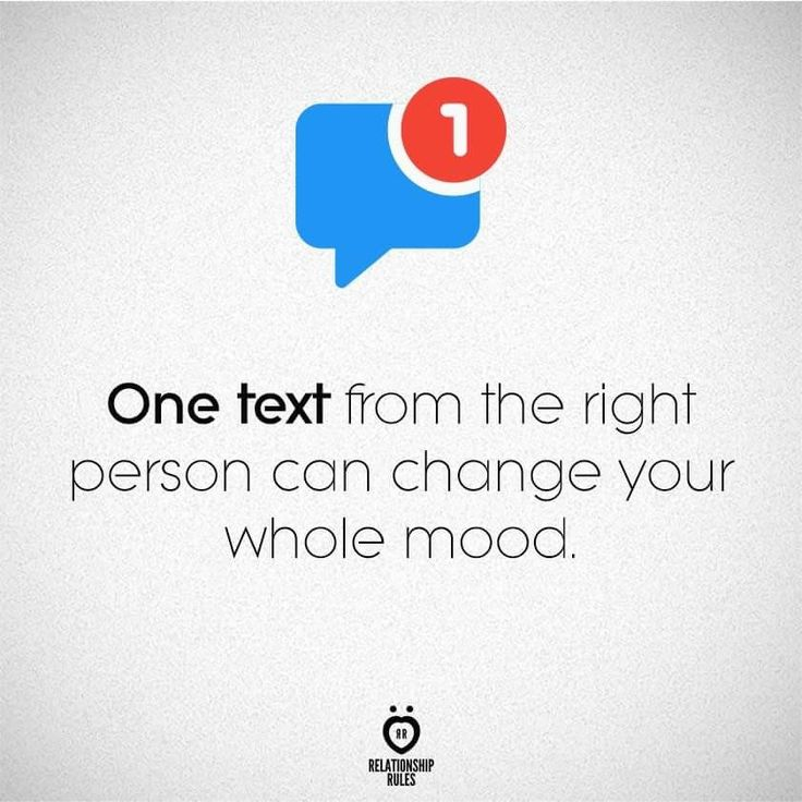 Relationship Rules. One text...