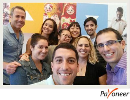 The Team kicking off the #PayoneerSelfie craze at the headquarters!