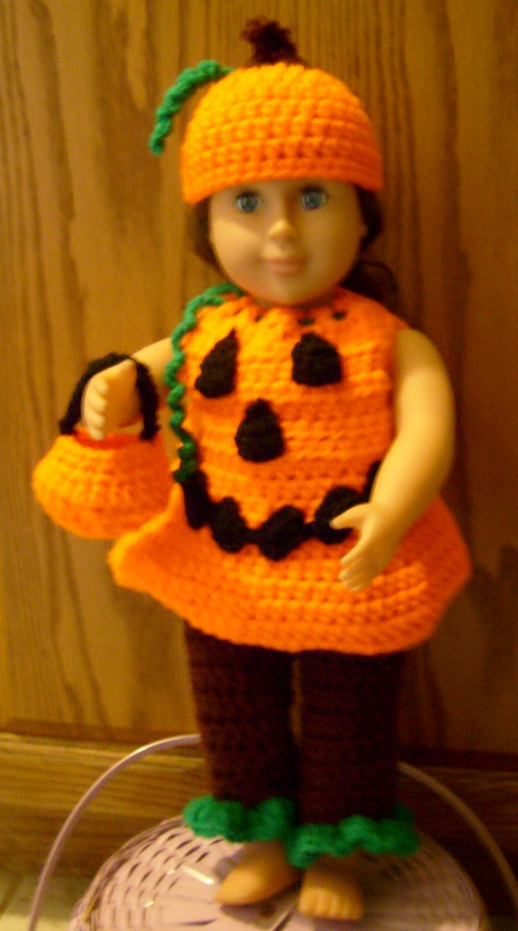 30 best american girl doll cloths images on pinterest crochet pumpkin halloween costume bankloansurffo Image collections