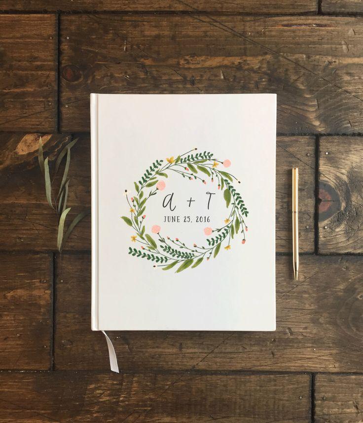 Floral Wedding Guest Book. Custom Wedding Guestbook. Custom Wedding Gift. Wedding keepsake. Wedding Book. Wedding Journal by PrintSmitten on Etsy https://www.etsy.com/listing/270428925/floral-wedding-guest-book-custom-wedding