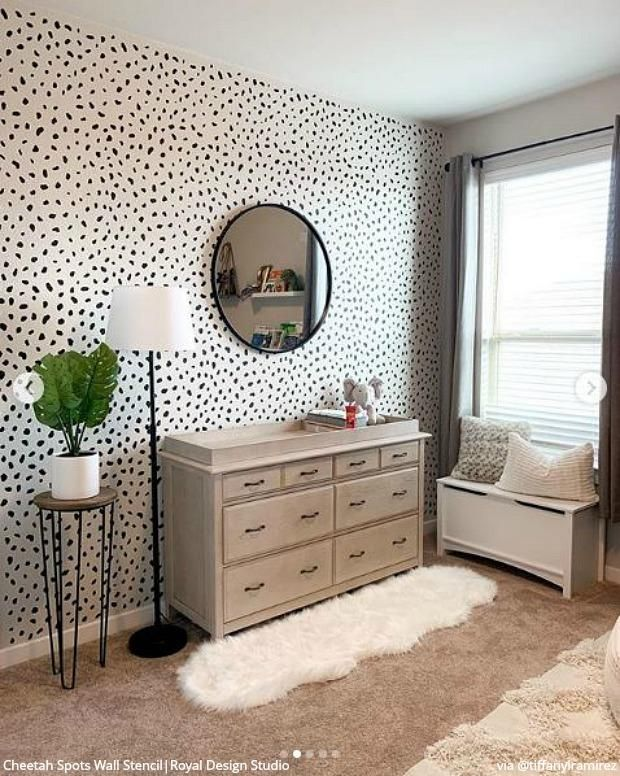 New Year New Decor With Insta Inspiring Stencils Accent Wall Bedroom Bedroom Wall Paint Room Wall Painting
