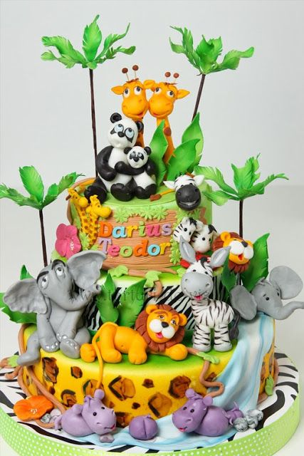 Children's safari cake
