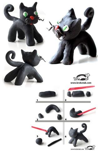 Plasticine BLACK CAT