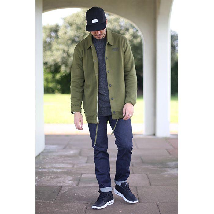 Hat: DIAMOND SUPPLY CO. STONE CUT 5-PANEL - £36.95  Jacket: CONVERSE WAFFLES COACHES FLEECE JACKET - £59.95  Jumper: DICKIES ROSENDALE SWEATER - £59.95  Jeans: EDWIN ED80 SLIM TAPERED JEANS - £59.95  Shoes: NIKE SB STEFAN JANOSKI MAX MID SHOES - £104.95