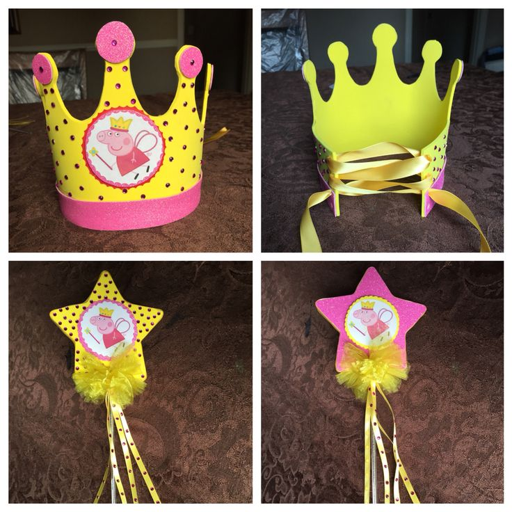 Peppa pig crown and wand