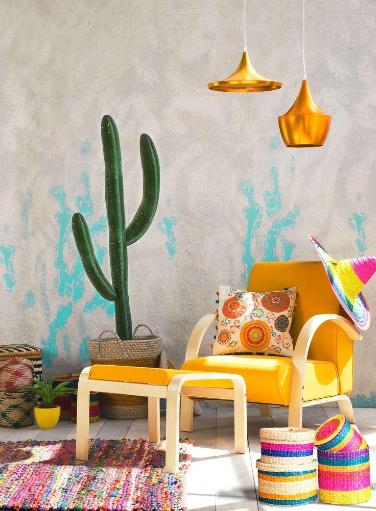 Crea un ambiente de relajo y estilo con nuestro especial #VivaMexicoEasy #deco #home #colors #design