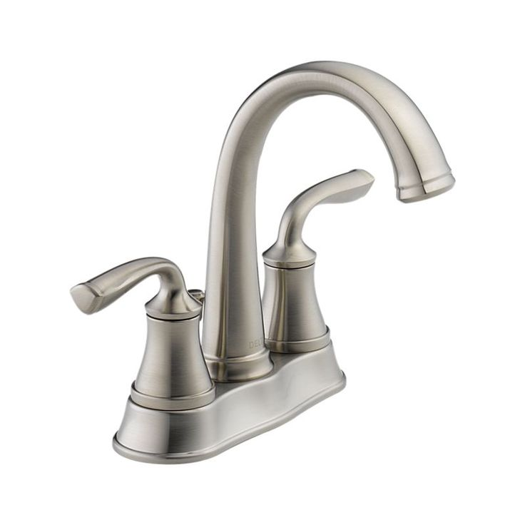 $12 Stainless. 25716LF-SS Lorain Two Handle Centerset Lavatory Faucet : Bath Products : Delta