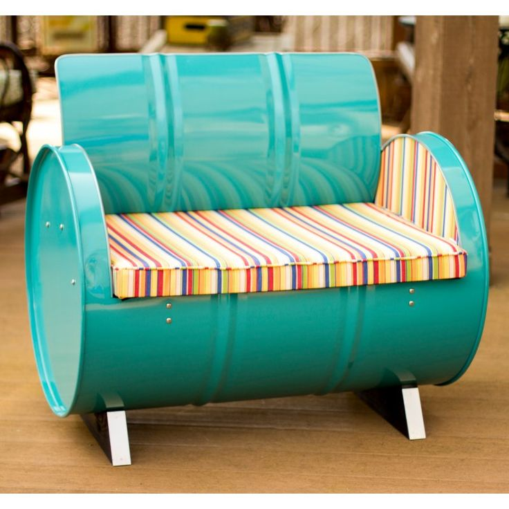 Outdoor Drum Works Furniture Topsail Bench - 1001