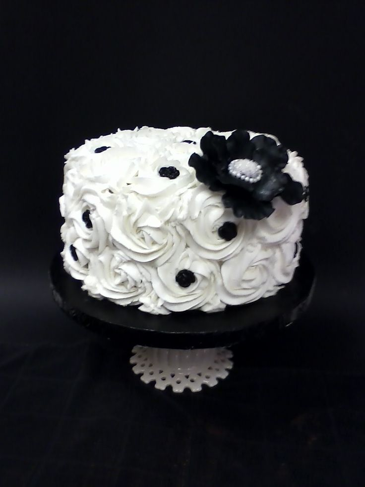 Black White Wedding Cutting Cake All Chocolate Cake With Buttercream Filling And Frosting