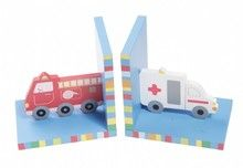 Boekensteun voor de Auto Kamer, Stoere Ambulance & Brandweerauto Boekensteun. -Kinderkapstok, kinderlampen, Kinderkamer-Accessoires en Muurstickers bij Dreumes enZo alles voor de Kinderkamer of Babykamer.