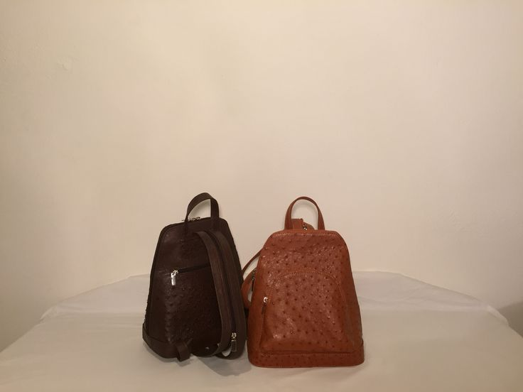 Backpack -  Noble Stone, Genuine African Ostrich Leather Handbag.