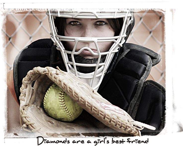 idead for her senior pictures but not as a catcher, but the phrase underneath it