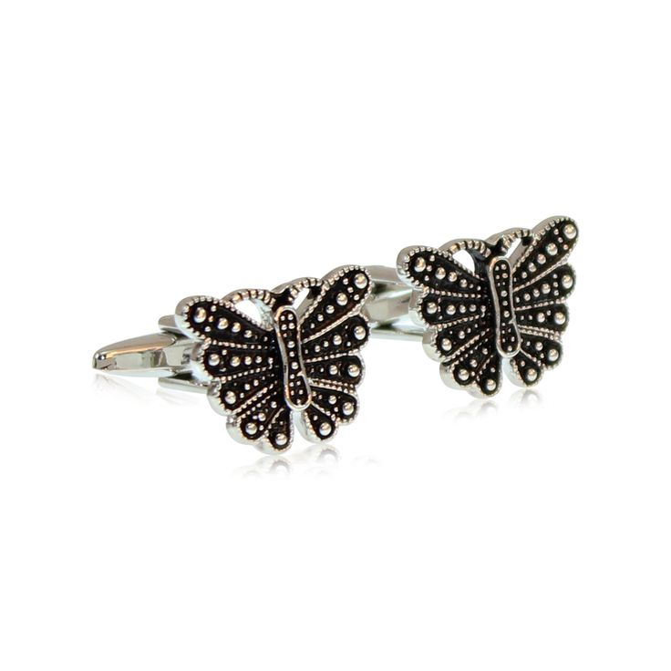 Enchantingly feminine these Encrusted Butterfly cufflinks for women are stunning and will accent any colured shirts you choose to wear.   Our cufflinks are made from solid brass with rhodium plating. The rhodium ensures a tarnish-free appearance unlike similar cufflinks made from nickel or sterling silver. The jewellery's brass construction and moulded fastening clasp will remain solid and firmly attached for the lifetime of your cufflinks. http://www.byariane.com.au/Cufflinks-Butterfly
