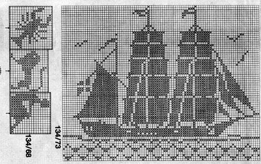 ampliar maritime motifs cross stitch