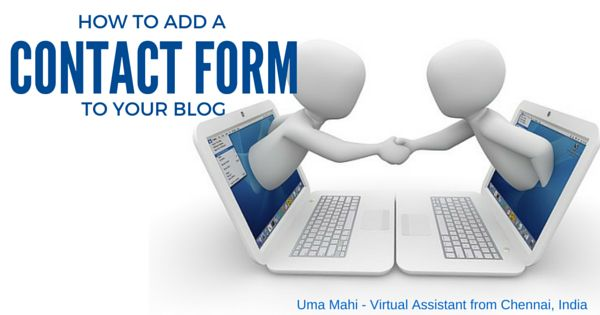 Help For Small Business Owners: How to add a 'Contact Form' to your Blog?
