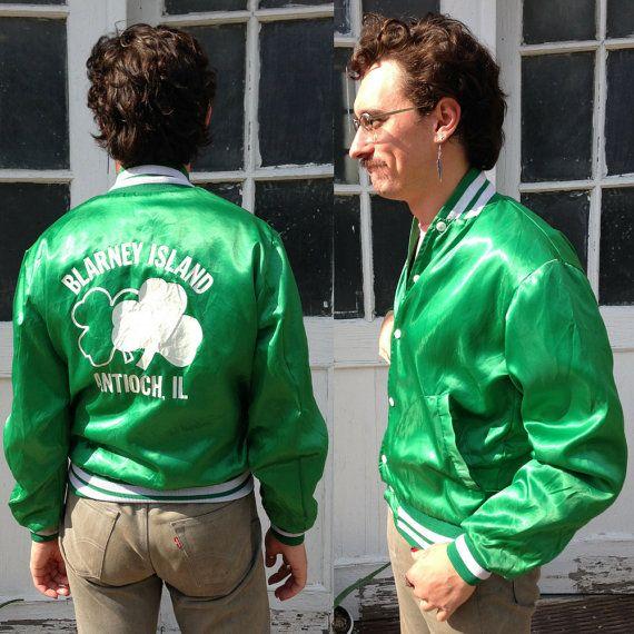 green satin jacket