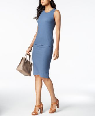 d14d482d3a14 Michael Kors Ribbed Pencil Skirt, Regular & Petite, Created for Macy's  Women - Skirts - Macy's