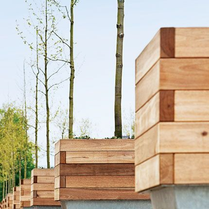 Wooden Planter / For Public Areas ROUGHu0026READY Streetlife