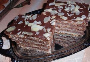 Mandlový dort z bílků