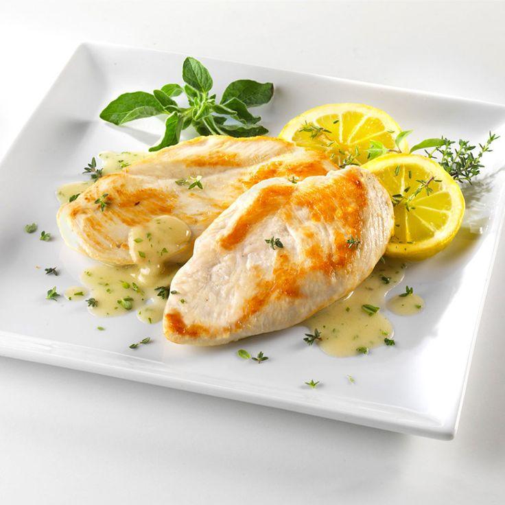 pollo in salsa di limone e timo