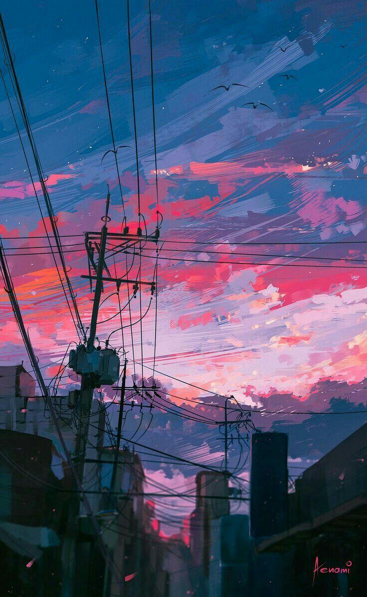 Pin oleh Burcu Nur di aestick Pemandangan anime