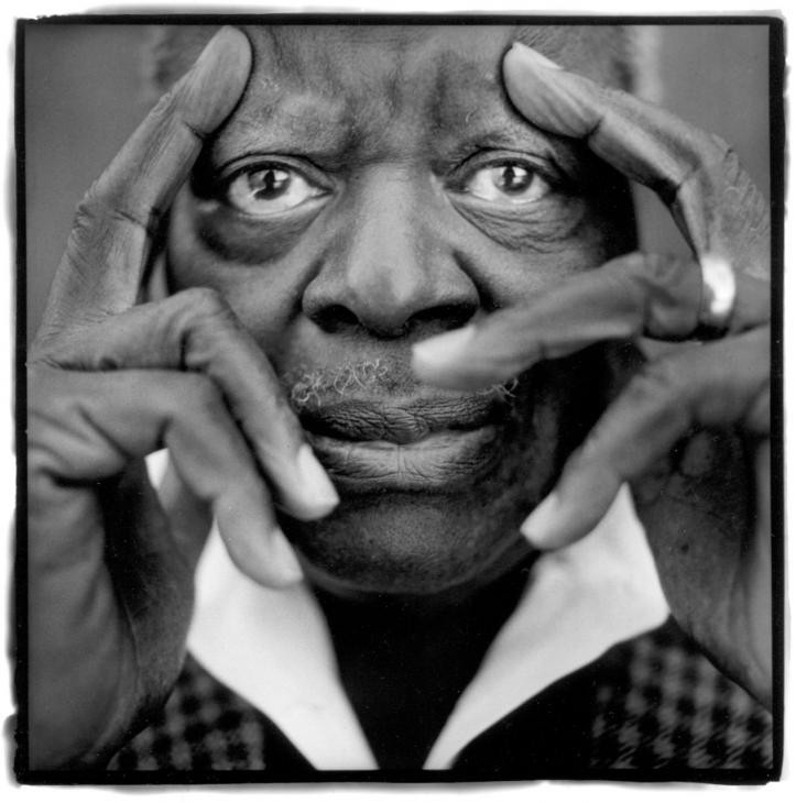 Oscar Peterson (1925-2007) - Canadian jazz pianist and composter. Photo by Tshi / Agence Vu, 1999.