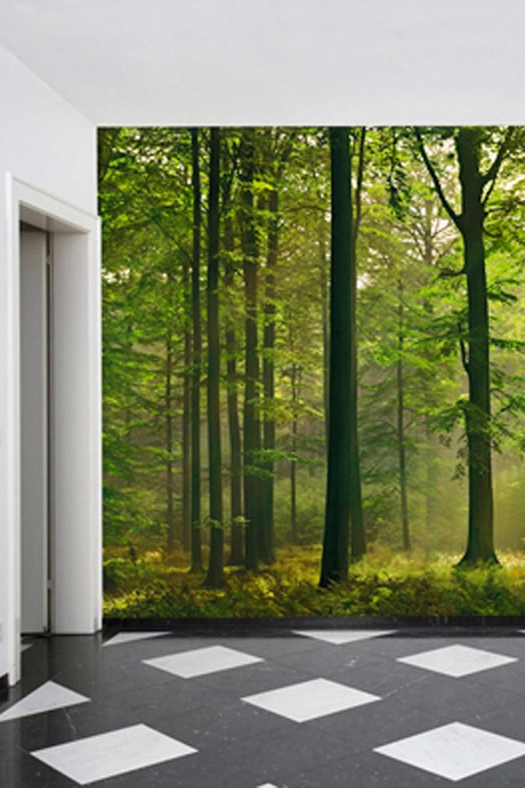 9 best murals plastic lids images on pinterest school murals ideal decor autumn forest wall mural by wow your walls murals decals and more on