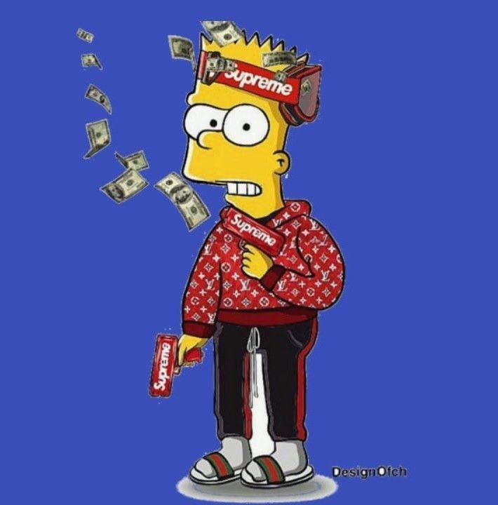 Pin By Jaden Coleman On Supreme Bart Simpson Art Simpsons Art Superhero Wallpaper