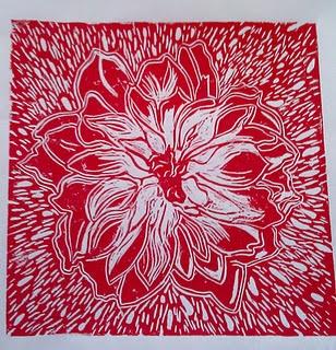 a flower print my friend made :)